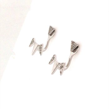 Edgy Diamond Studs