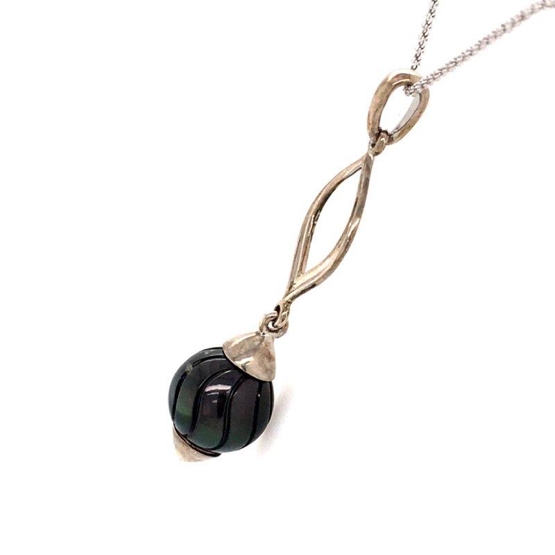 Galatea Black Tahitian Pearl Pendant