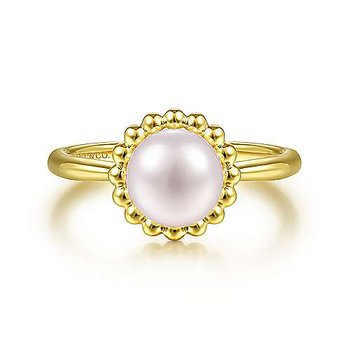 Beaded Halo Fresh Water Pearl Ring