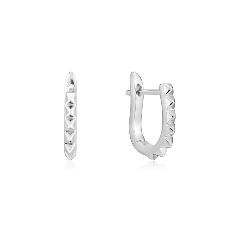 Ania Haie Sterling Spike Huggie Earrings