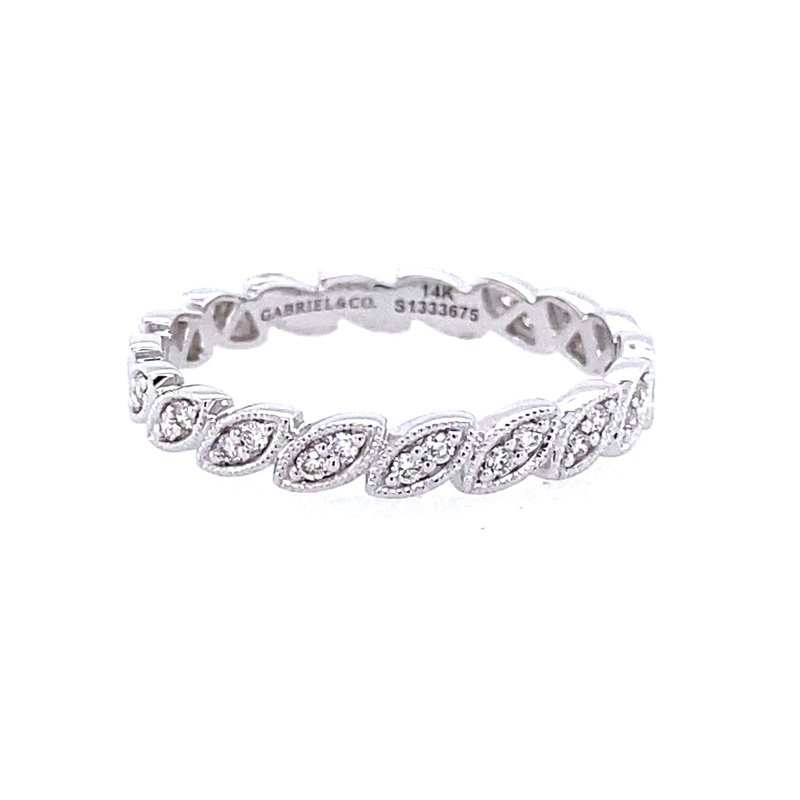 Gabriel & Co. -  IN-STORE COLLECTION Marquise Scalloped Diamond Band