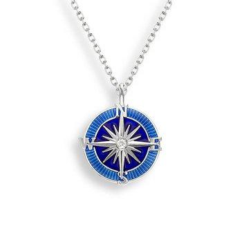 Enamel Compass Necklace