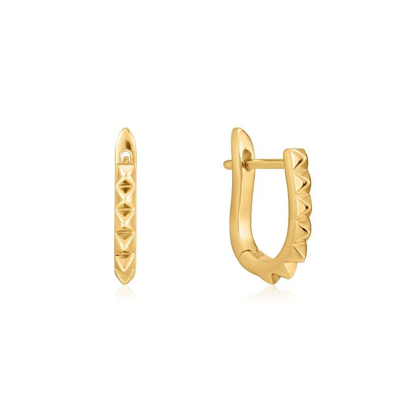Ania Haie Spike Huggie Hoop Earrings