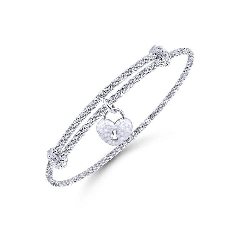 Gabriel & Co. -  IN-STORE COLLECTION Heart Lock Charm Bracelet