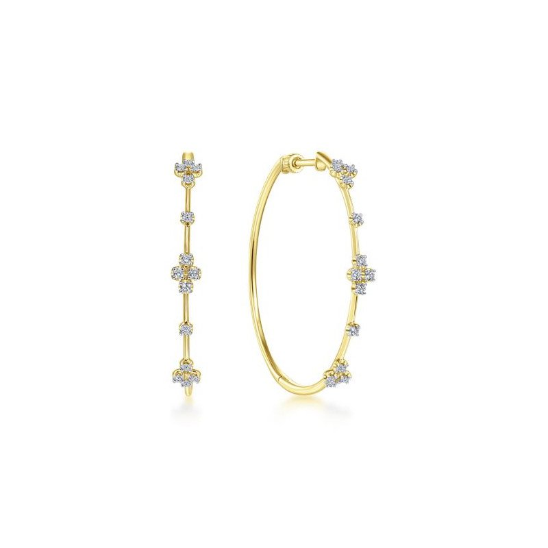 Gabriel & Co. -  IN-STORE COLLECTION Diamond Accented Hoops