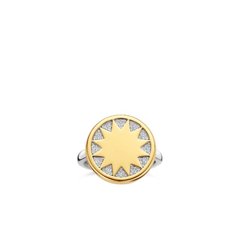 Ti Sento Sunburst Ring