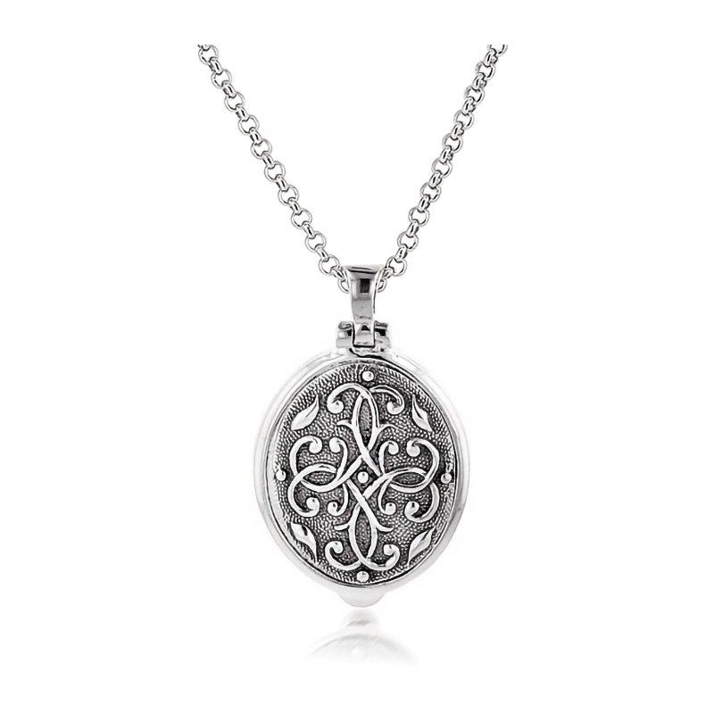 Anatoli Jewelry Sterling Silver Oval Locket
