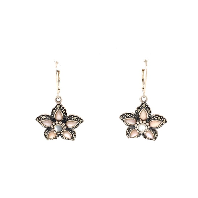 B&C Estate Collection Mother of Pearl Floral Earrings