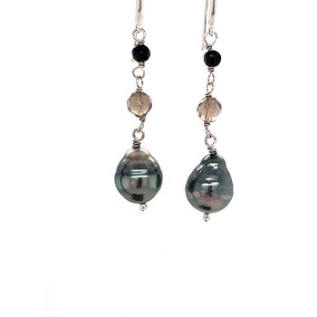 Pearl and Gemstone Earrings