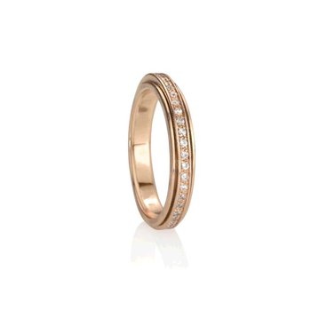 Rose Lunar Spinning Ring