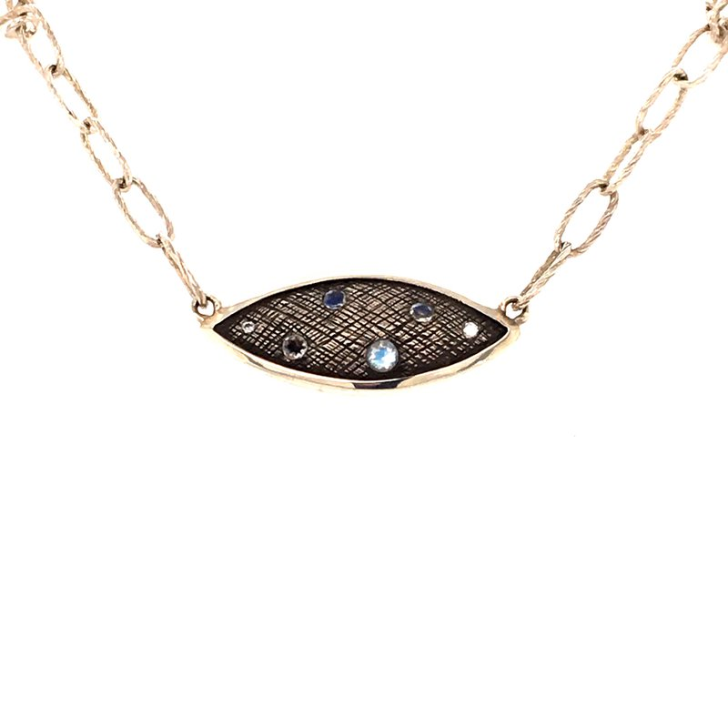 BRIAN'S VAULT Marquis Necklace with Moonstones