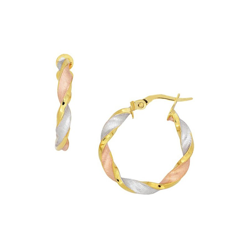 B&C Collections Tri Colored Ribbon Hoops