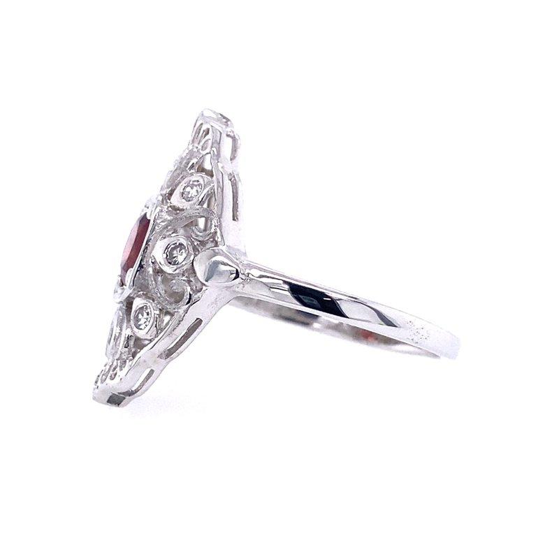 B&C Creations Garnet Filigree Ring
