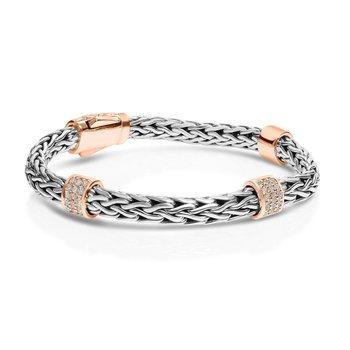 White Sapphire Woven Station Bracelet