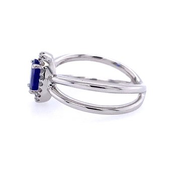"Tanzanite ""X"" Ring"