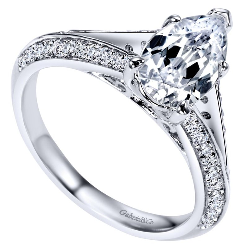 Gabriel & Co. -  IN-STORE COLLECTION Split Shank Engagement Ring