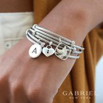 """Gabriel & Co. -  IN-STORE COLLECTION SS Initial """"A"""" Bangle"""