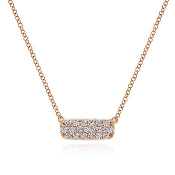 Pave Diamond Bar Necklace