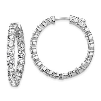 In and Out CZ Hoops