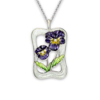 Purple Pansy Necklace