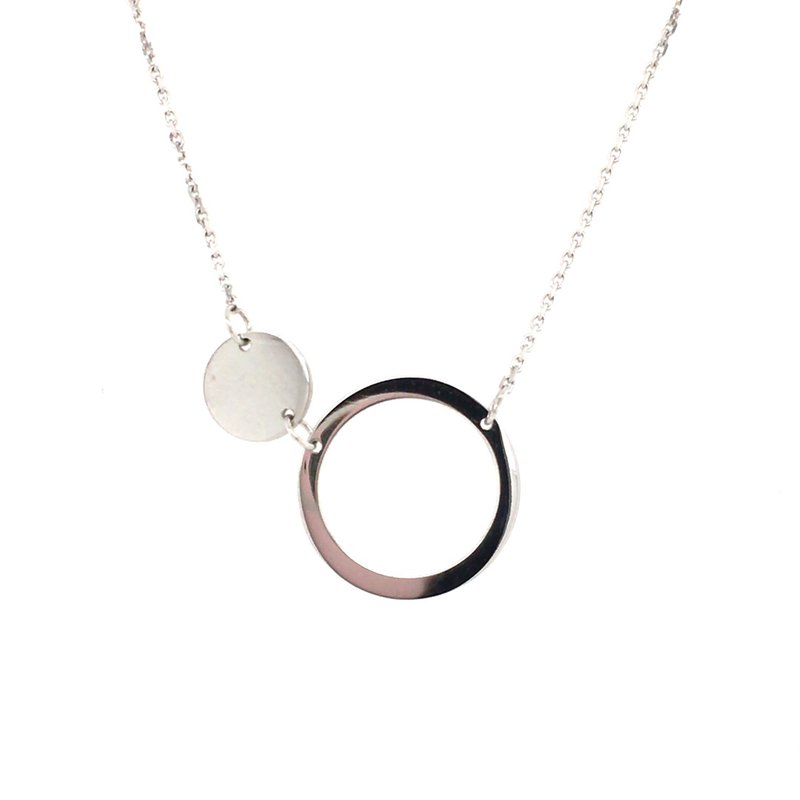 B&C Collections Open Circle and Disc Station Necklace