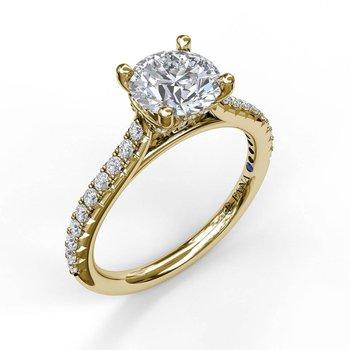Classic Side Diamond Engagement Ring