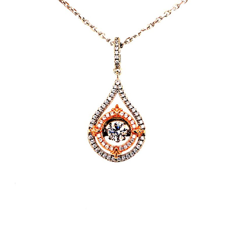 B&C Collections Two Tone Teardrop Pendant
