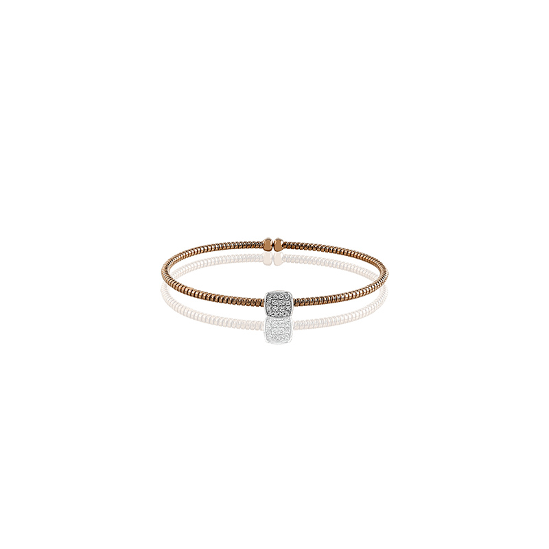 Simon G IN-STORE COLLECTION Rose Gold Diamond Cuff Bracelet