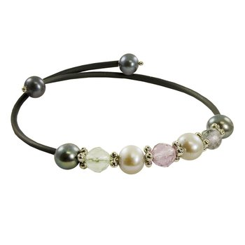 Dyed Pearl Rubber Bangle