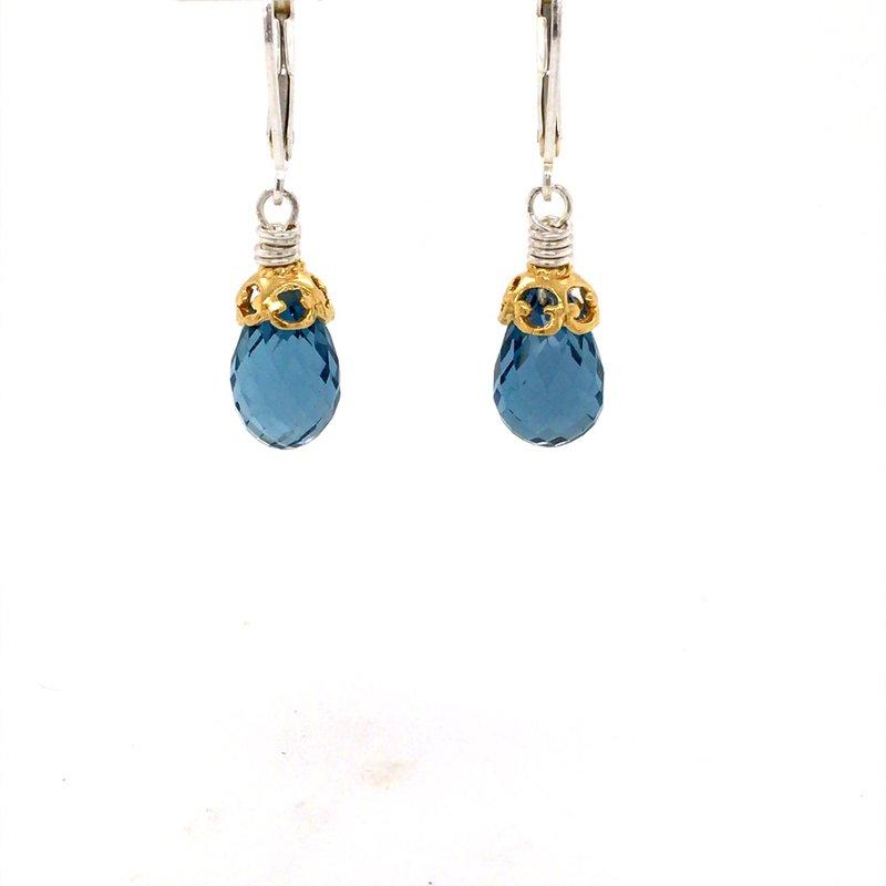 Anatoli Jewelry London Blue Topaz Drop Earrings