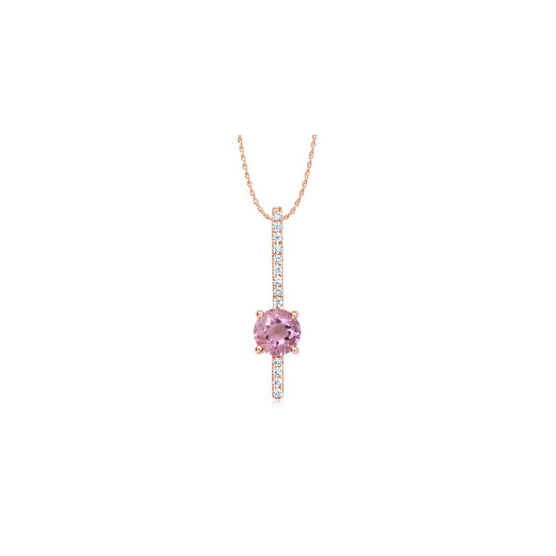 Parlé 14K Rose Lotus Garnet Necklace