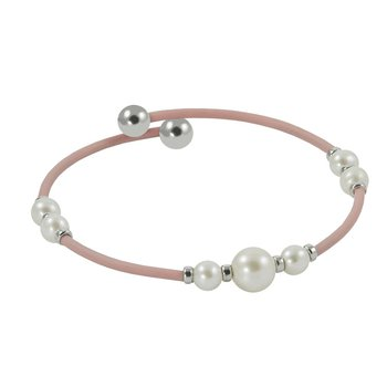 Pearl Pink Rubber Bangle