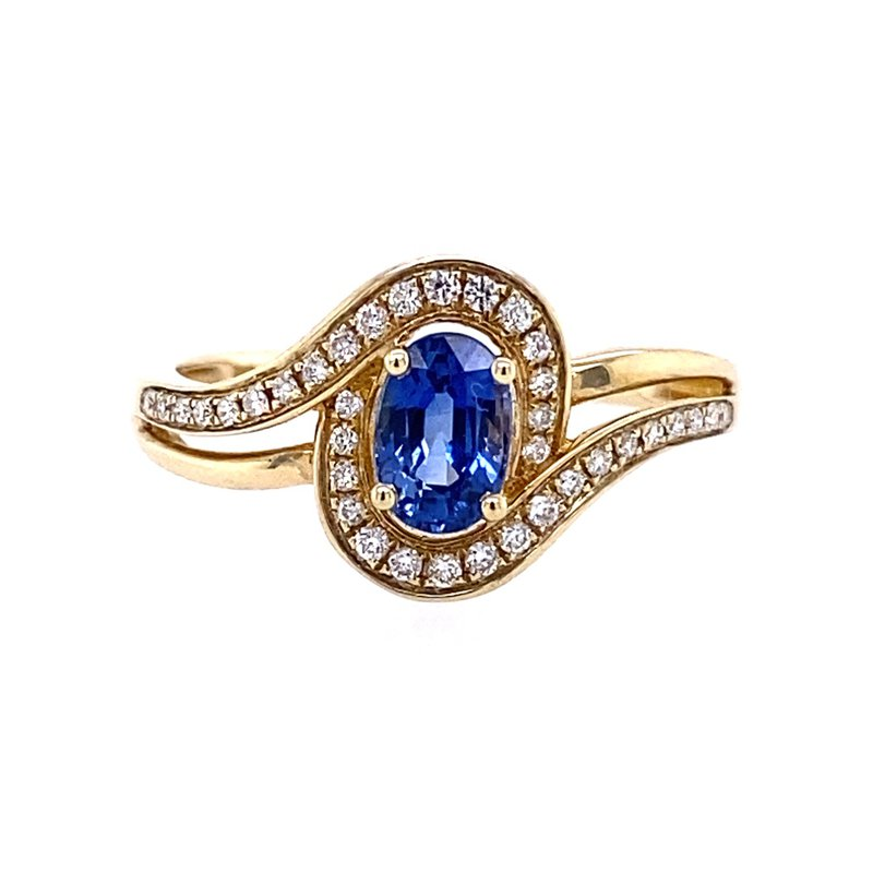 B&C Collections Sapphire and Diamond Ring