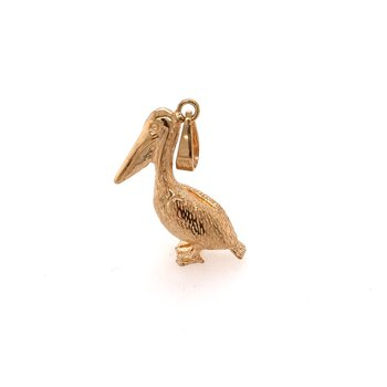 Gold Pelican Charm or Pendant