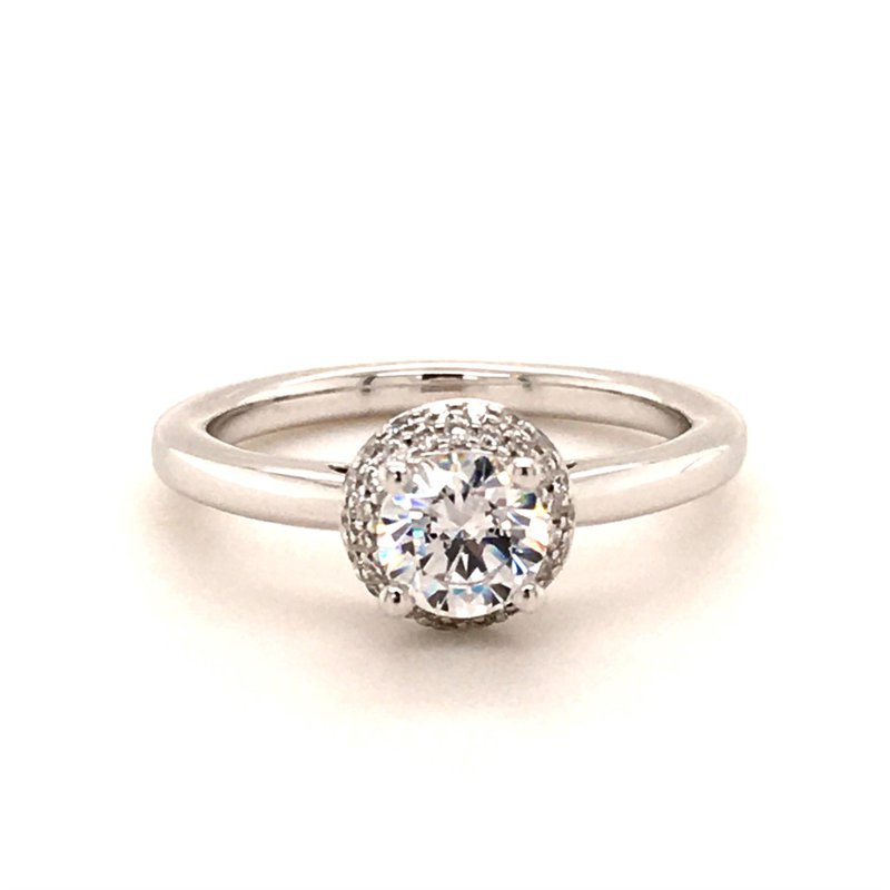 B&C Collections Pavé Halo Engagement Ring