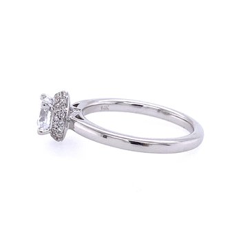 Pavé Halo Engagement Ring