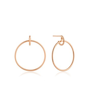 Rose Gold Plated Front Hoop Earrings