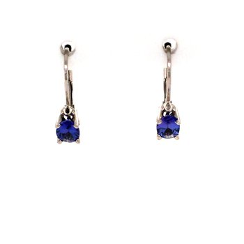 Tanzanite Leverback Earrings