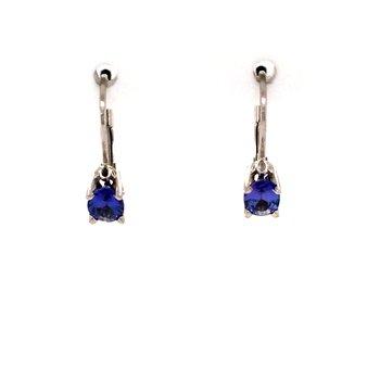 Tanzanite Leverback Earrings