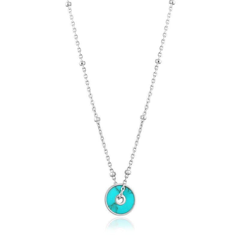 Ania Haie Turquoise Disc Necklace