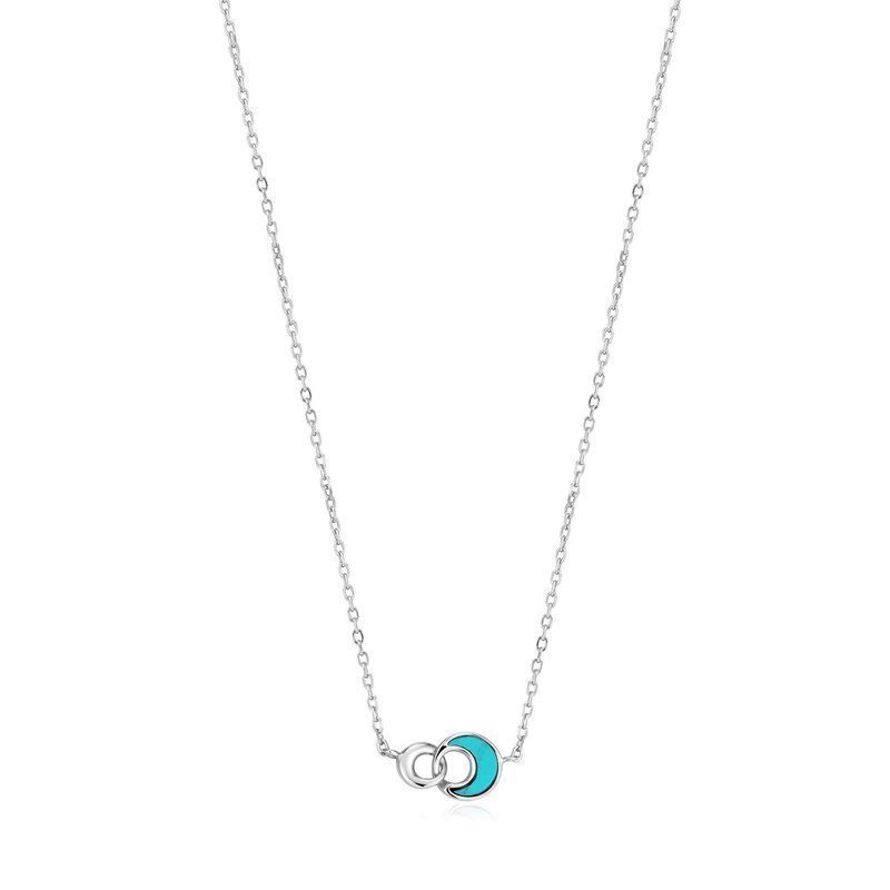 Ania Haie Turquoise Crescent Link Necklace