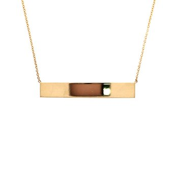 Engraveable Bar Necklace