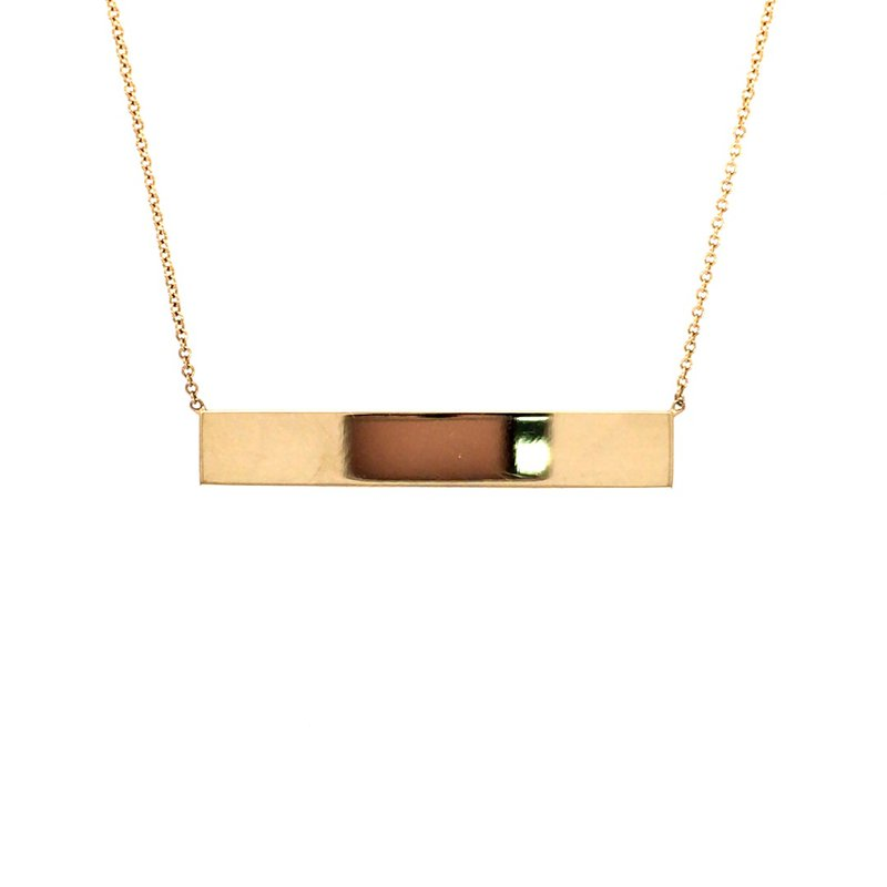 B&C Creations Engraveable Bar Necklace