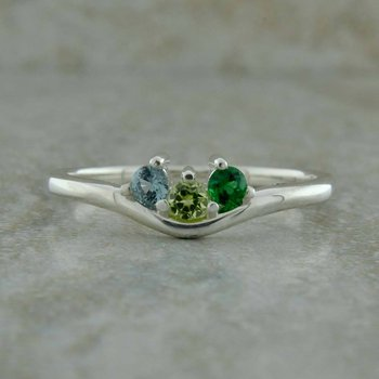 Stackable Three Stone Ring