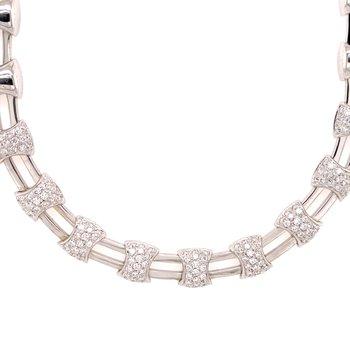 Diamond fancy Link Necklace