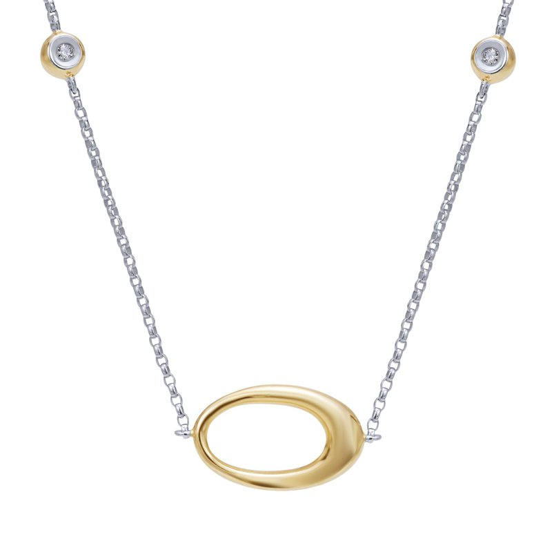 BRIAN'S VAULT Two Tone Gold and Diamond Necklace