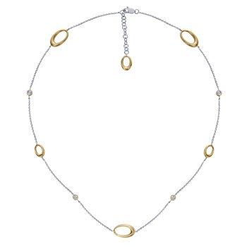 Two Tone Gold and Diamond Necklace