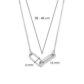 Sterling Double Link Necklace