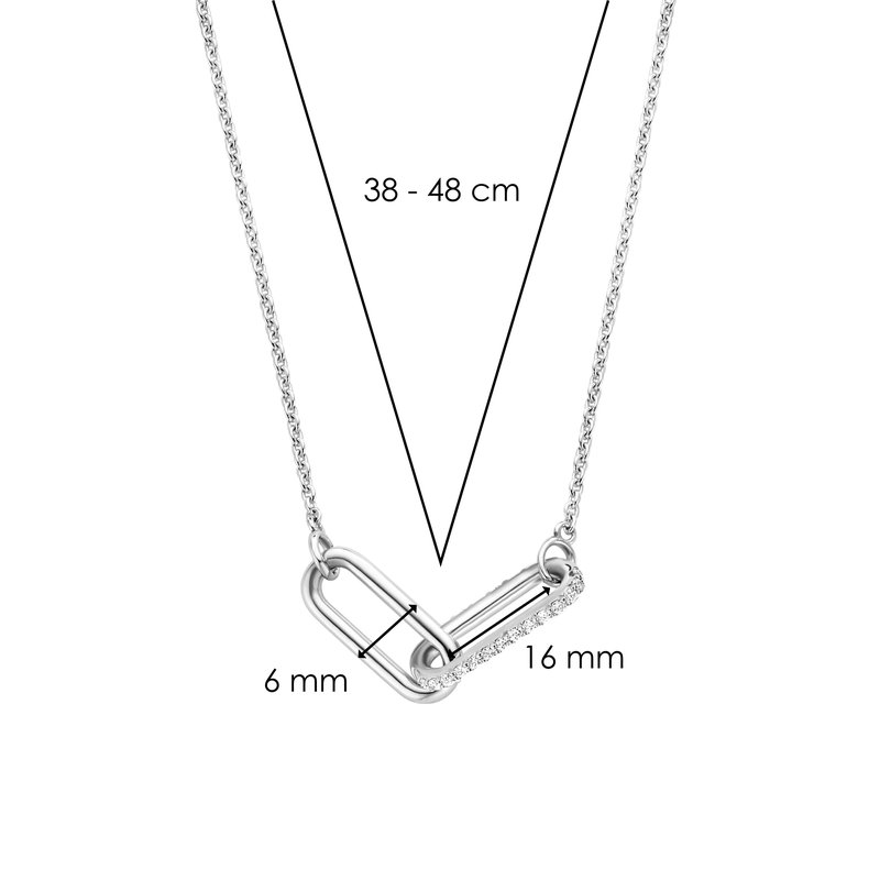 Ti Sento Sterling Double Link Necklace