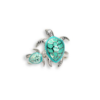S/S Mother/Baby Sea Turtle Ring